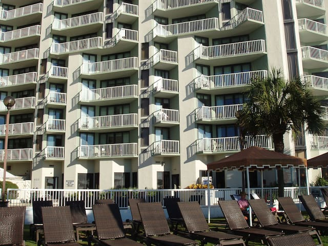 back of the resort facing the ocean