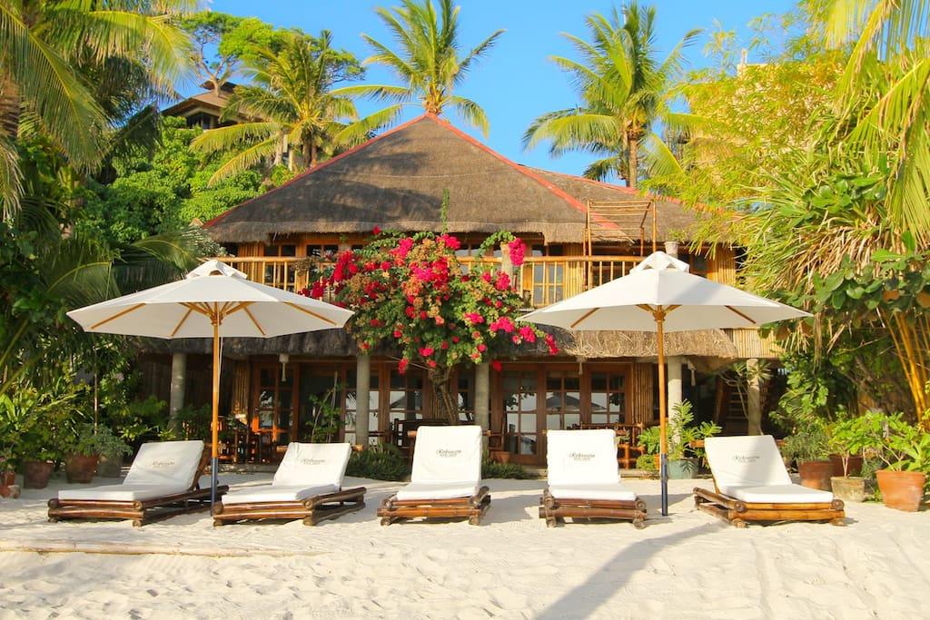 Robinson Beachfront Villa Ground Villas Louer Malay Visayas Occidentales Philippines