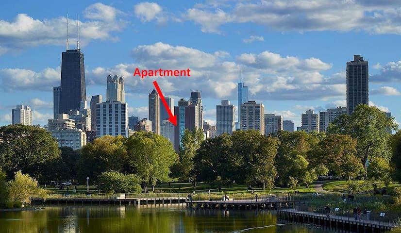 Incredible park & lake views - luxury corner unit! - Chicago - Apto. en complejo residencial