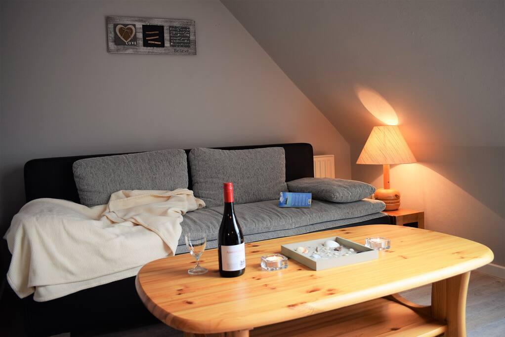 Wohnzimmer OG mit Schlafcouch