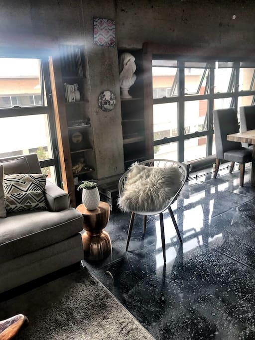 Floor to (almost ;) ceiling windows