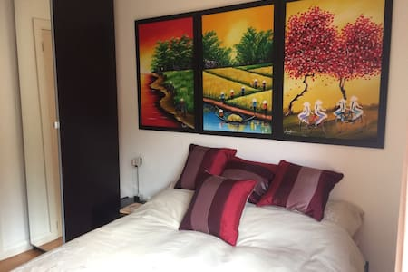 Double room with ensuite, 4 miles from Leamington - Warwickshire - 小平房