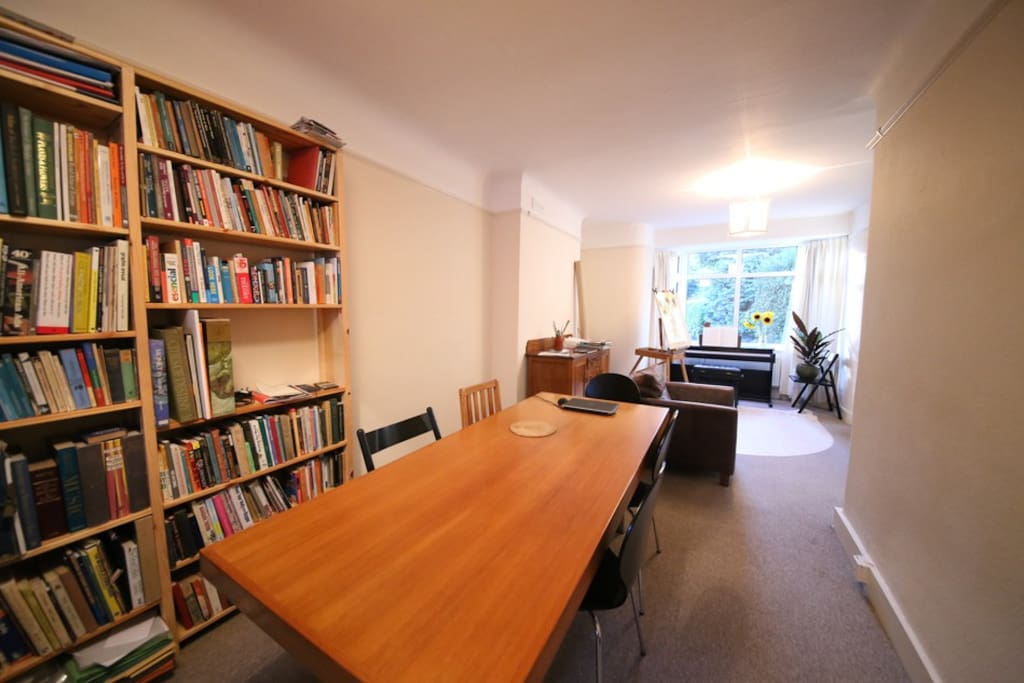 dining room/library
