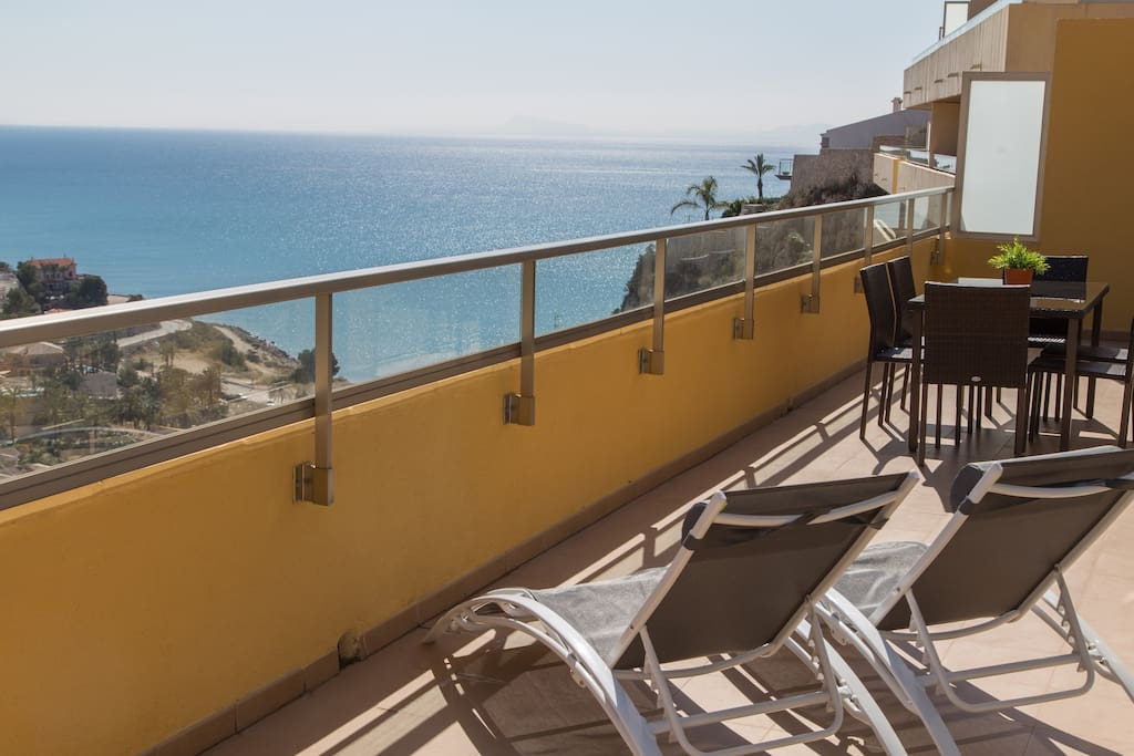 Large terrace overlooking the sea..