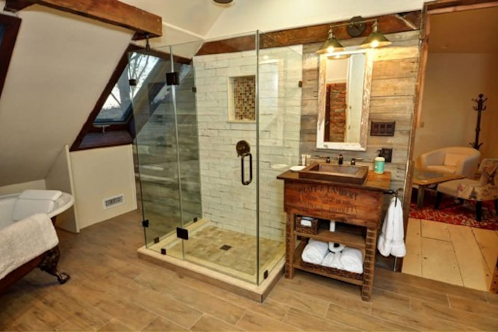 Private Bath with Clawfoot Tub and Shower