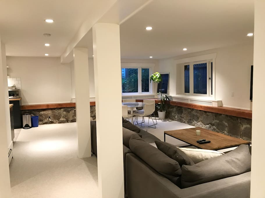 newly renovated private 1 bedroom suite.