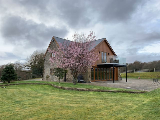 A barn conversion in the South Wales valleys.