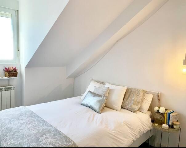 Habitación doble en Moderno loft, Chamberí