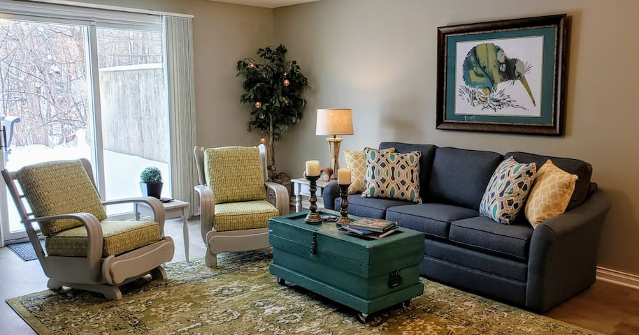 Family room, queen pullout bed