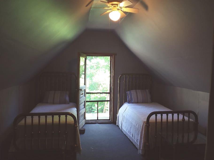 Twin Antique Brass Beds