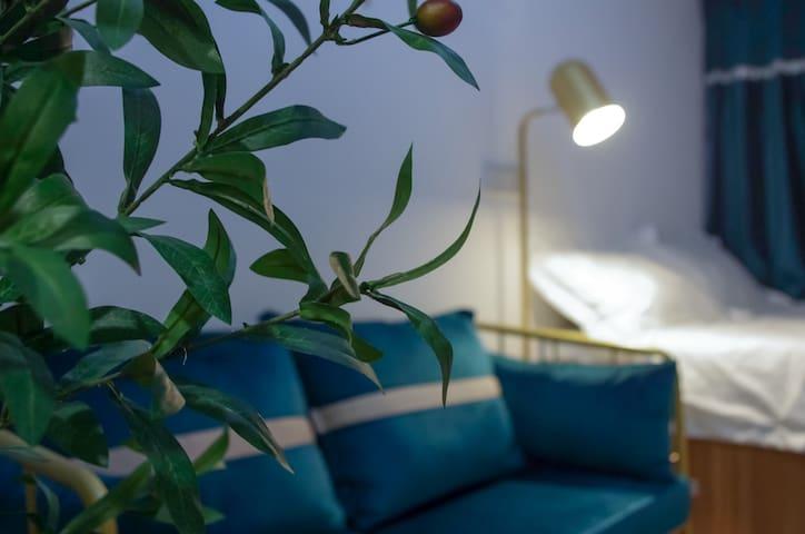 A青山素锦,郑州东站五号线,万科公寓,大电视,乳胶垫,语音智控。