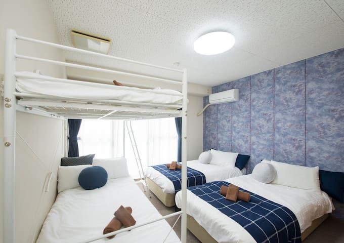 Reasonable studio! 2single+bunkbed, Kanazawa#BOC