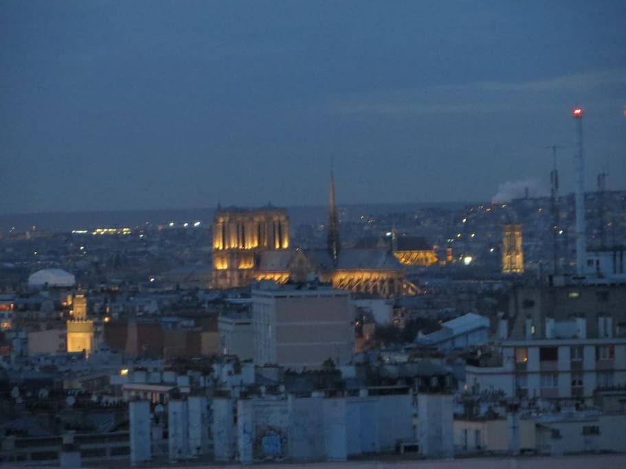 View of the towers of Notre Dame