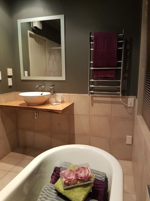 Your own private bathroom with underfloor heating (in the winter) and a separate toilet.