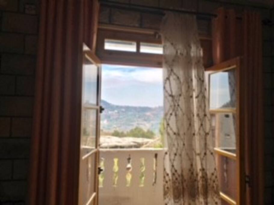 balcon vu du salon