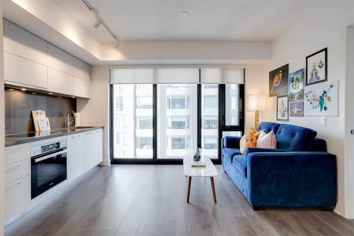 1BR/1BA Condo in the heart of downtown W/pool&gym