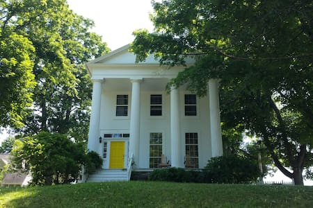Airy and Bright Greek Revival in the Finger Lakes - Montour Falls - House