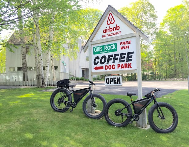 A Bed and Breakfast with Electric Bikes!