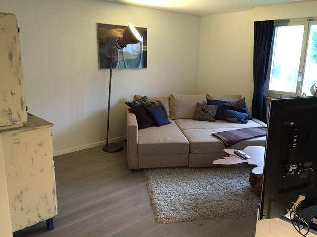Gemütliches Gästezimmer im Hause Chez Grinsekatz'