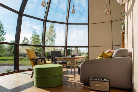Casa amb cúpula única
