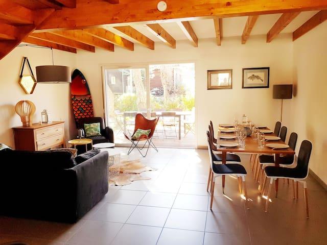 Capbreton, Maison lumineuse, jardin, proche plages