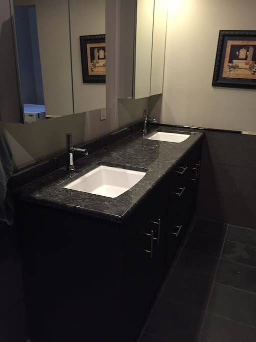Double Sinks with Granite