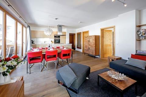 Luxury apartment 6 p Gerlos village, FREE WIFI!