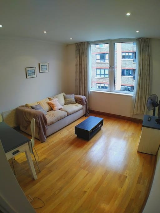Living room, double sofa bed