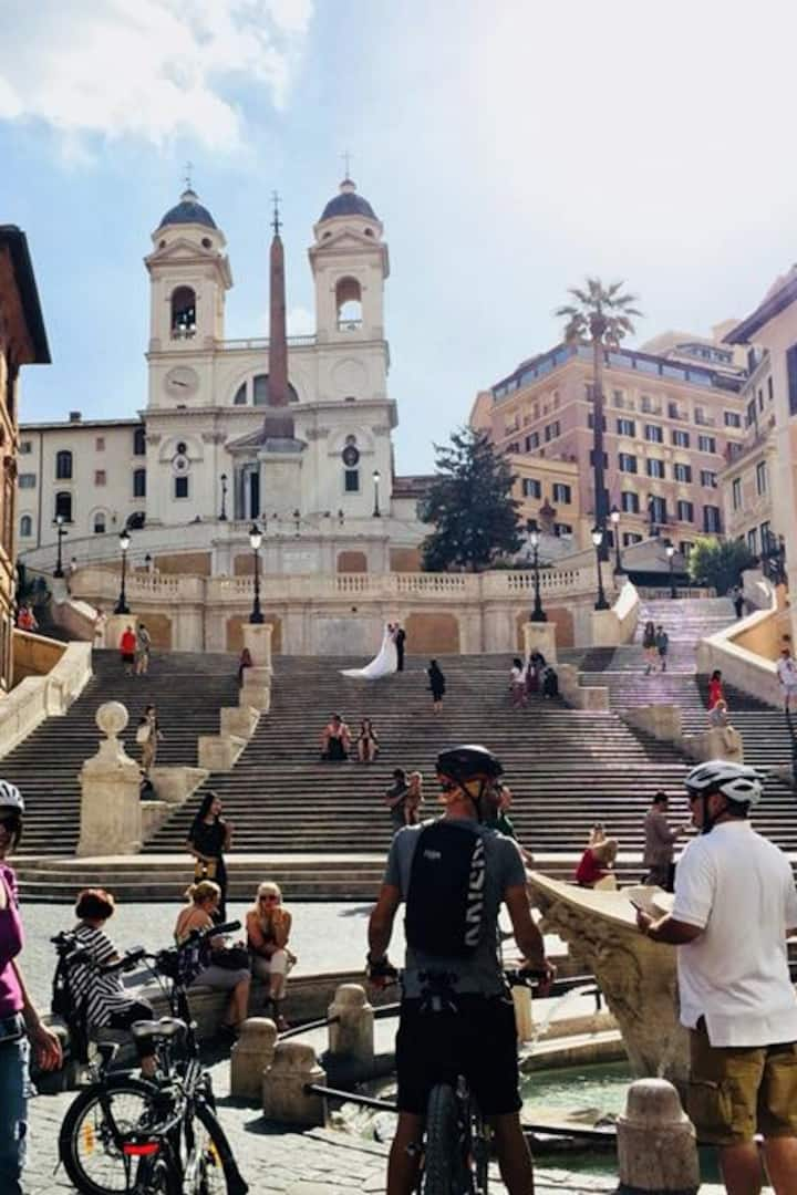 Spanish steps in the morning