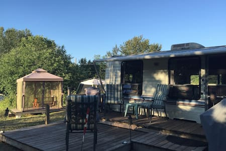 """Trailer on the Trail"" - Private Camp Site Getaway"