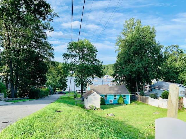 The Tiffany Blue Cottage at Lake Hopatcong