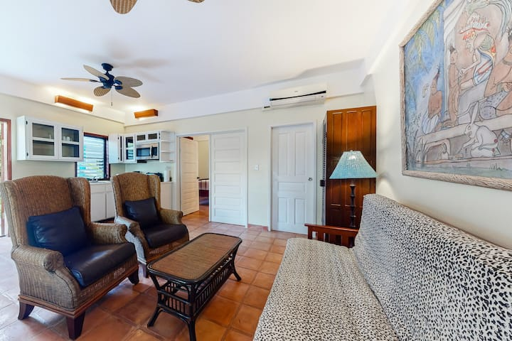 Oceanfront escape w/ a shared, outdoor pool, free WiFi, & air conditioning