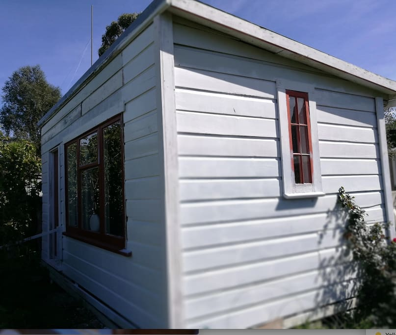 We're waiting the outside! All natural recycled weatherboard exterior!