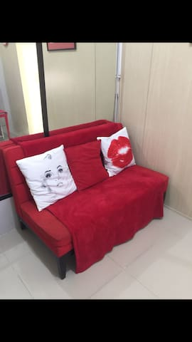 Grass one bedroom with balcony - Quezon City - Casa