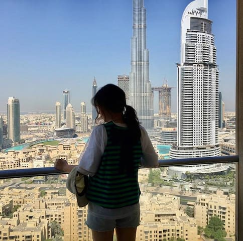 Bed in Female dormitory close to Burj Khalifa view