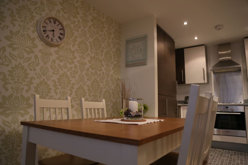 Breakfast / Dining room with kitchen facilities home away from home.