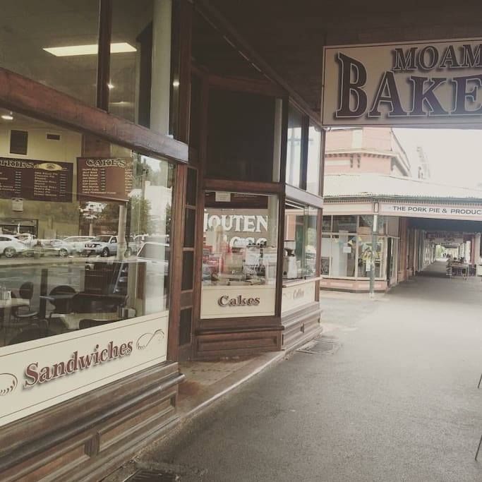 The Port is directly underneath Moama Bakery in High Street Echuca