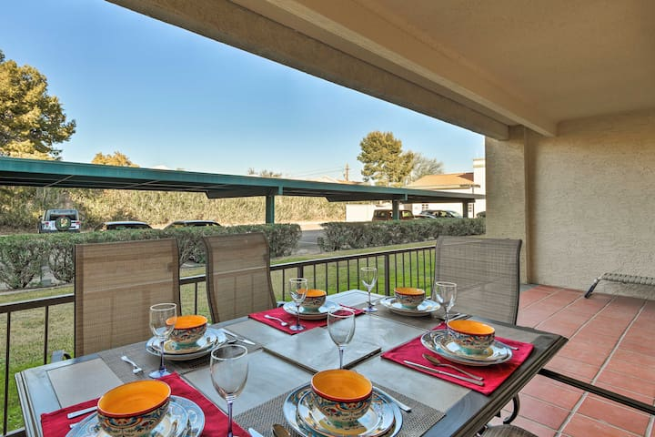 Dine al fresco while at this vacation rental condo.