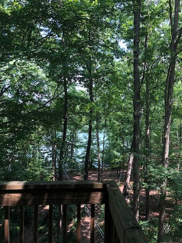 Wooded lake view from your balcony