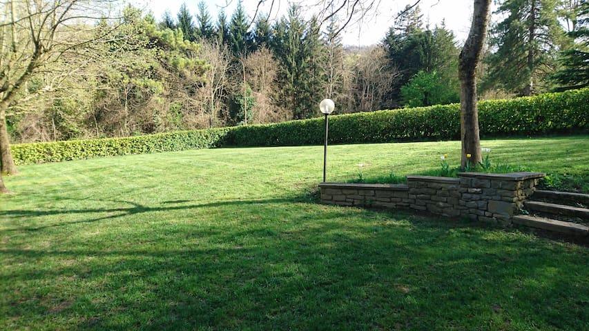 vista giardino dalla casa