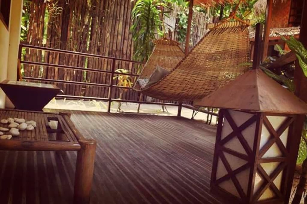 A spacious outdoor area for you to relax and hang out.