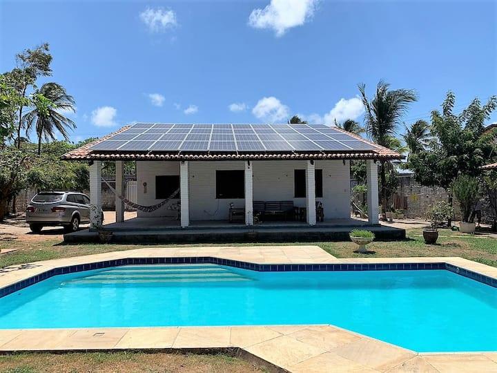 Casa aconchegante bela piscina e energia solar