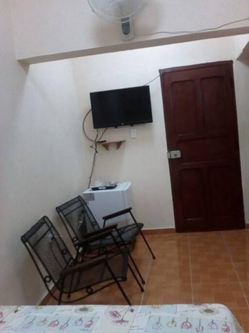 sala de TV con Minibar