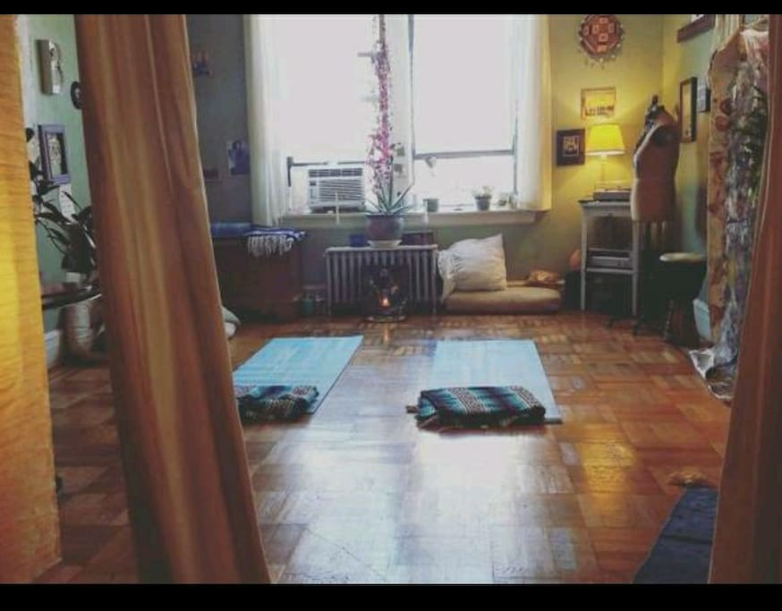 living room for you! free yoga classes :)