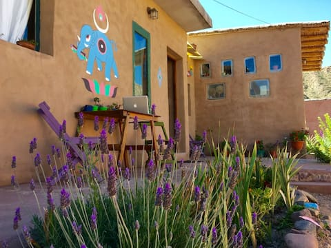 Lovely adobe house in the mountain. Natural Beauty