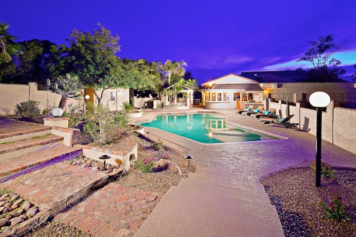 Heated Pool, Private Theater Room, & Sports Court