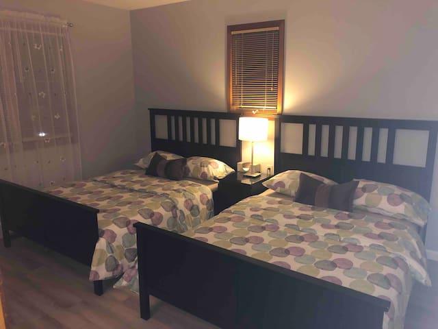 Bedroom 2 , two double beds, sleeps 4