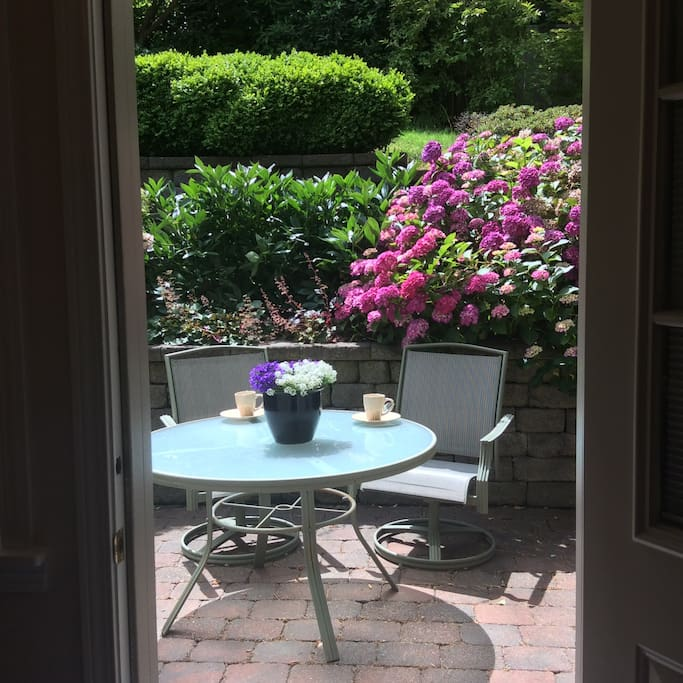 Enjoy your coffee on attached patio.