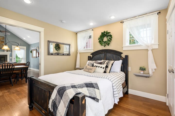 Master Suite, right off the main living area.