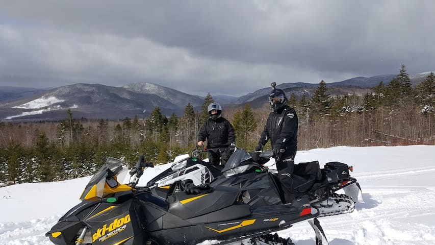 Nearby snowmobile trails, you can ride from our yard to ITS 82. Nice riding on groomed trails to towns with great food, gas and beautiful mountains views! My son and I may even take you out on a guided tour if you ask!